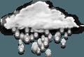 pluie modérée