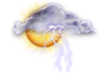 soleil, orage possible