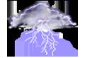 couvert et orageux