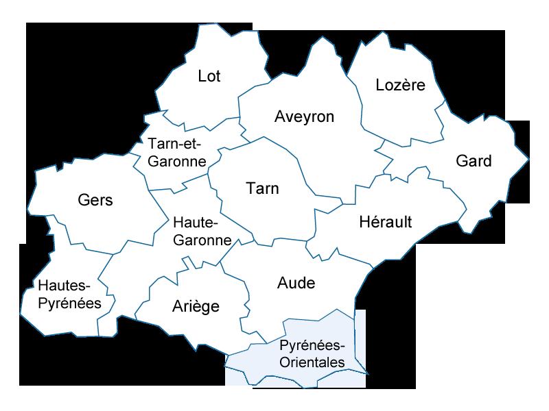 Languedoc-Roussillon Midi-Pyrénées